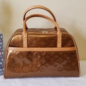 LV vernis thompkins satchel bronze